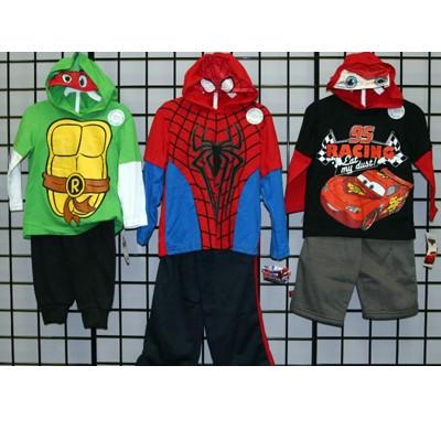 Boys 2T-4T licensed hooded set